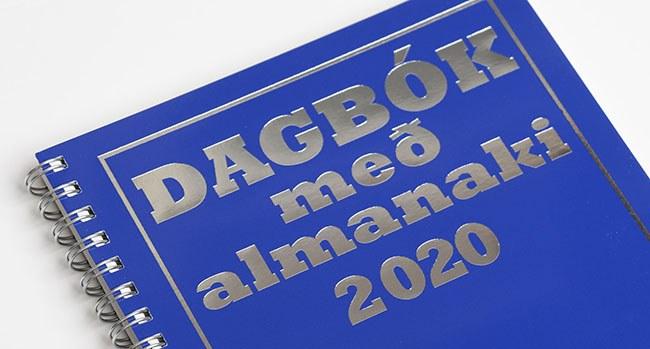 Dagbók með almanaki 2020