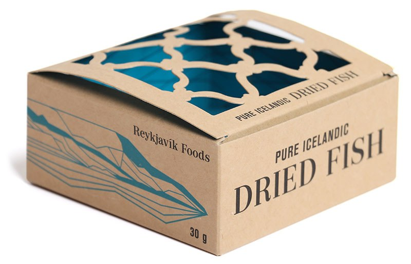Umbúðir. Pure Icelandic Dried Fish.